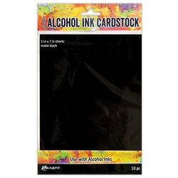 Black Matte, Ranger Alcohol Ink Cardstock -