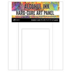 Assorted Rectangles Hard Core Art Panel, Ranger Alcohol Ink - 789541066910