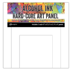Assorted Square Hard Core Art Panel, Ranger Alcohol Ink - 789541066927
