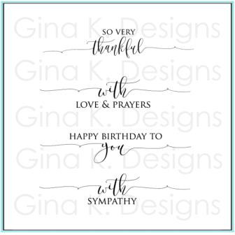 Scripty Sayings 1, Gina K Designs Clear Stamps - 609015549711