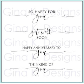 Scripty Sayings 2, Gina K Designs Clear Stamps - 609015549728
