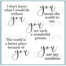 All About You, Gina K Designs Clear Stamps - 609015551158