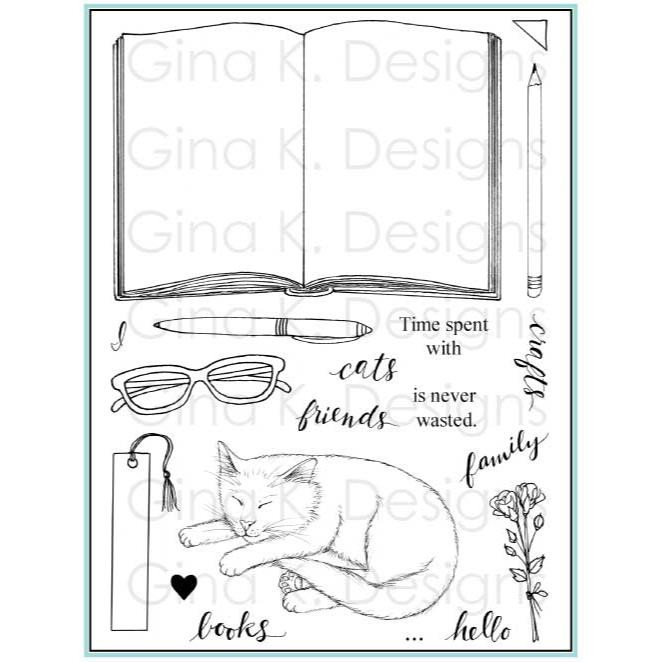 Open Book, Gina K Designs Clear Stamps - 609015542378