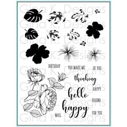 Tropical Blooms, Gina K Designs Clear Stamps - 609015542507