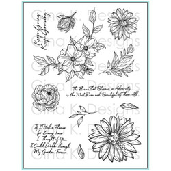 Whimsical Wildflowers, Gina K Designs Clear Stamps - 609015543078
