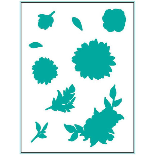 Whimsical Wildflowers, Gina K Designs Dies - 609015542521