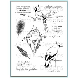 Snow Birds, Gina K Designs Stamp Clear Stamps - 609015542965