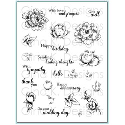 Stippled Flowers, Gina K Designs Clear Stamps - 609015544471