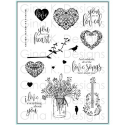 You Have My Heart, Gina K Designs Clear Stamps - 609015542484