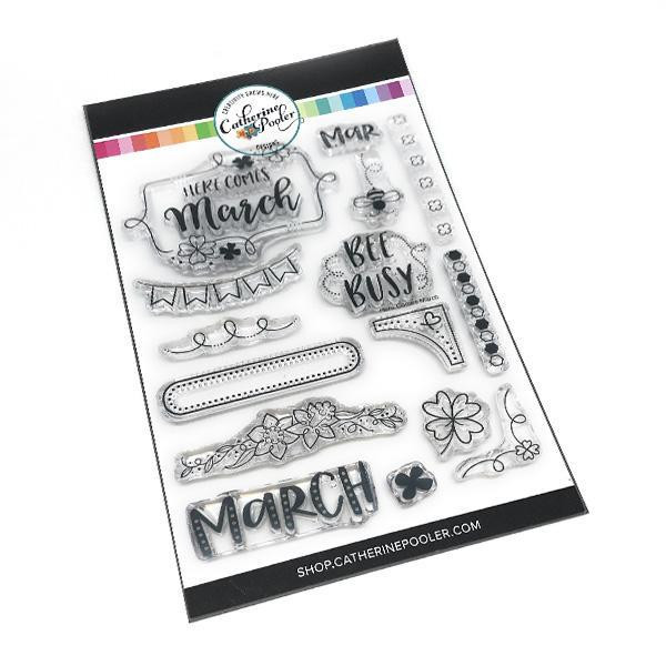 Here Comes March, Catherine Pooler Clear Stamps -