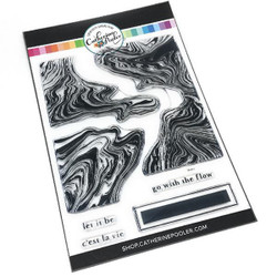 Marble Swirl, Catherine Pooler Clear Stamps -