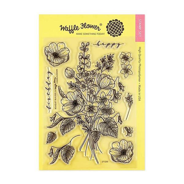 Bouquet Builder 3, Waffle Flower Clear Stamps - 653341347735