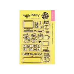Office Birthday, Waffle Flower Clear Stamps - 653341248138