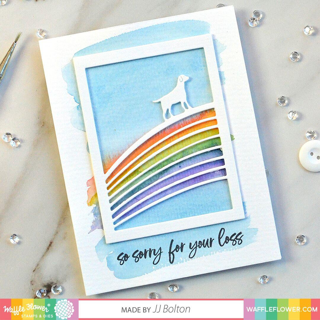 Rainbow Bridge, Waffle Flower Stamp & Die Combo - 653341253538