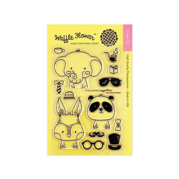 Be Him, Waffle Flower Clear Stamps - 653341247933