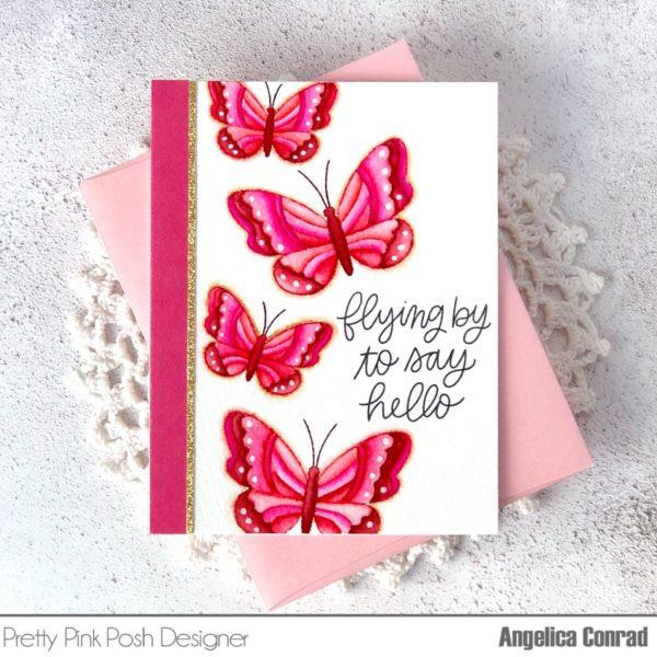 Beautiful Butterflies, Pretty Pink Posh Clear Stamps -