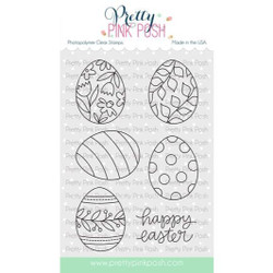 Easter Eggs, Pretty Pink Posh Clear Stamps -