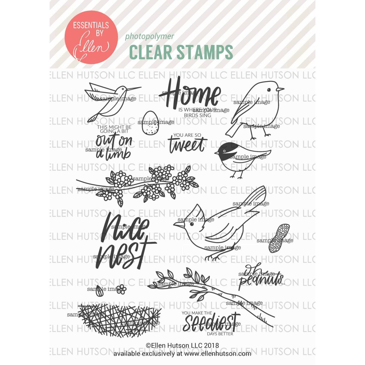 Backyard Bird Friends by Brandi Kincaid, Essentials by Ellen Clear Stamps -