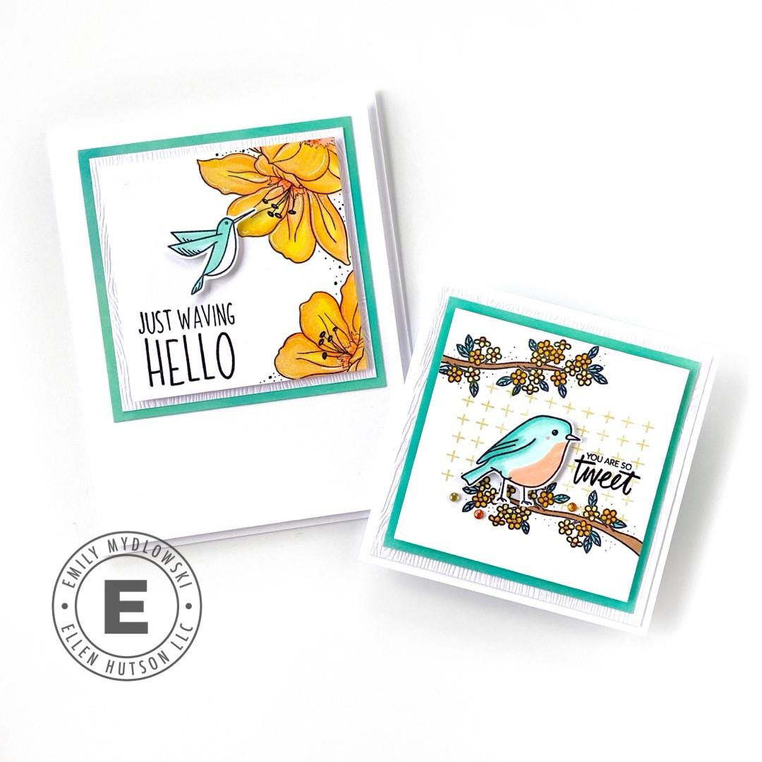 Backyard Bird Friends by Brandi Kincaid, Essentials by Ellen Clear Stamps -