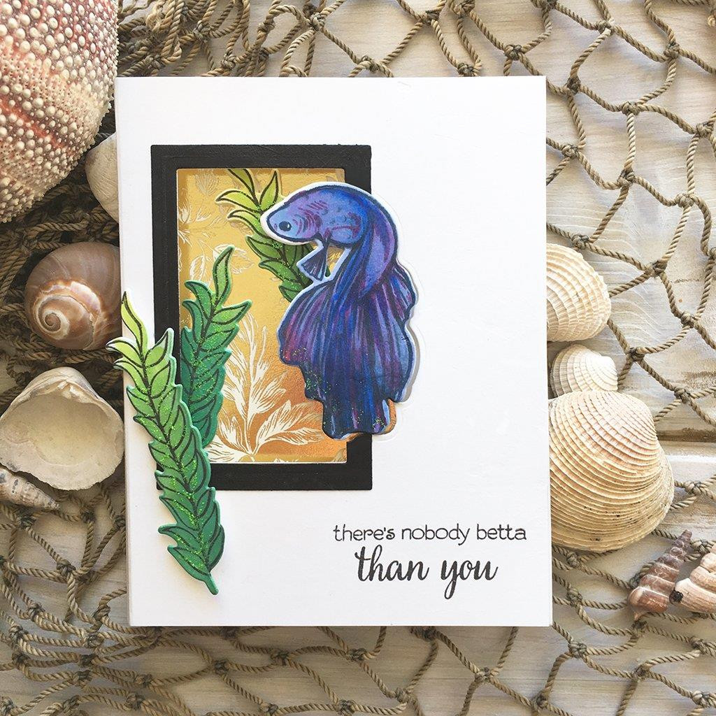 Color Layering Betta Fish, Hero Arts Clear Stamps - 857009212824