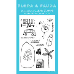 Vacation in a Bottle, Flora & Fauna Clear Stamps - 725835782111