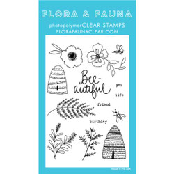 Bee Blossom, Flora & Fauna Clear Stamps - 725835782128