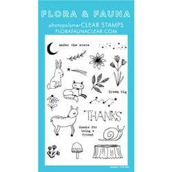 Woodland Night Sky, Flora & Fauna Clear Stamps - 725835782142