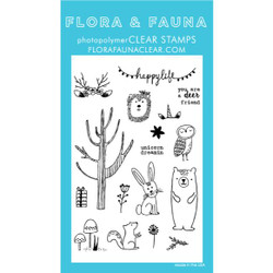 Woodland Happy Life, Flora & Fauna Clear Stamps - 725835782180