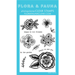 Pencil Flowers, Flora & Fauna Clear Stamps - 725835782241