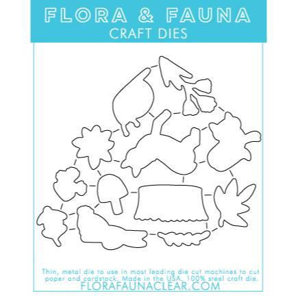 Woodland Night Sky, Flora & Fauna Dies - 725835782487