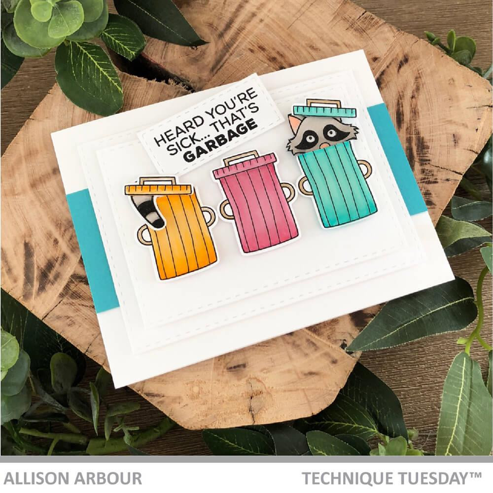 Robbie Raccoon - Animal House March 2019, Technique Tuesday Clear Stamps - 811784027691