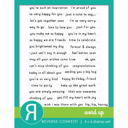 Word Up, Reverse Confetti Clear Stamps -