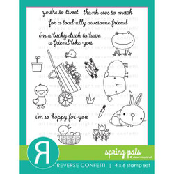 Spring Pals, Reverse Confetti Clear Stamps -