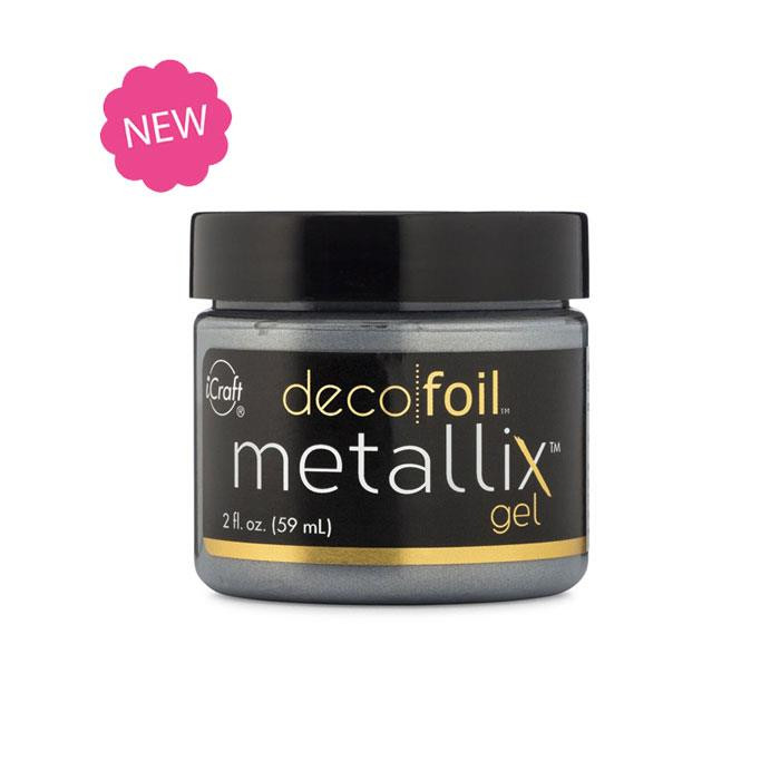 Glazed Pewter, Deco Foil Metallix Gel - 943055440