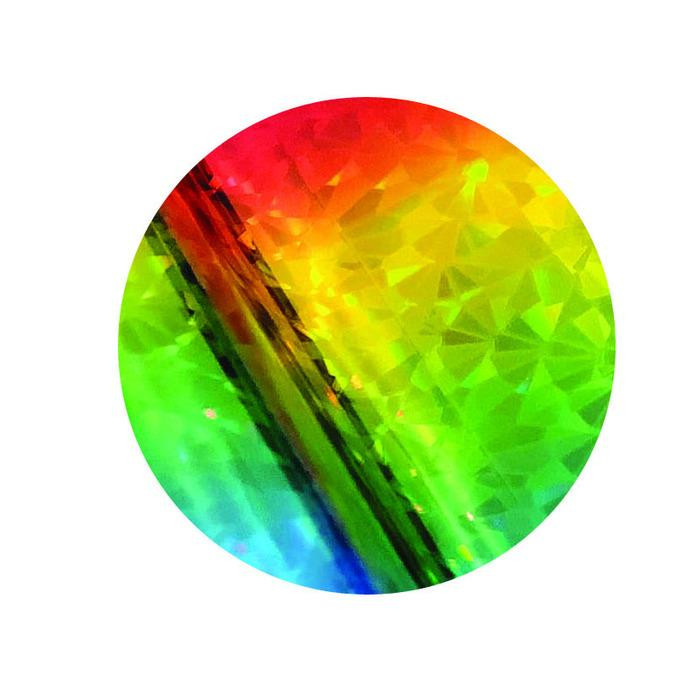 ICraft Deco Foil Transfer Sheets, Rainbow Shattered Glass - 943540953