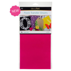 Think Pink, Deco Foil Flock Transfer Sheets - 943055334