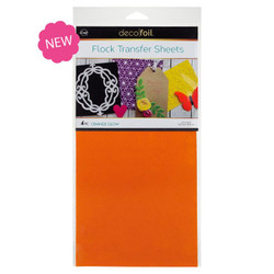 Orange Glow, Deco Foil Flock Transfer Sheets - 943055341