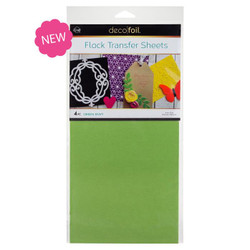 Green Envy, Deco Foil Flock Transfer Sheets - 943055365