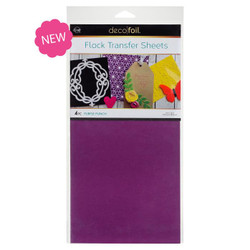 Purple Punch, Deco Foil Flock Transfer Sheets - 943055389