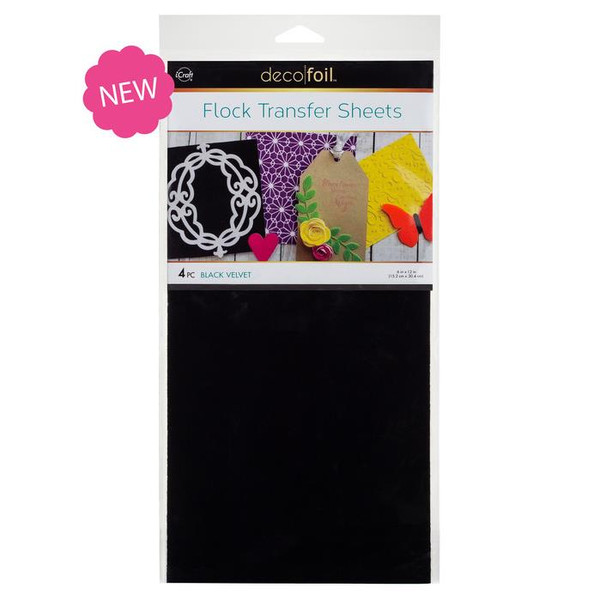 Black Velvet, Deco Foil Flock Transfer Sheets - 943055396