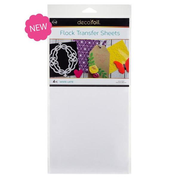 White Latte, Deco Foil Flock Transfer Sheets - 943055402
