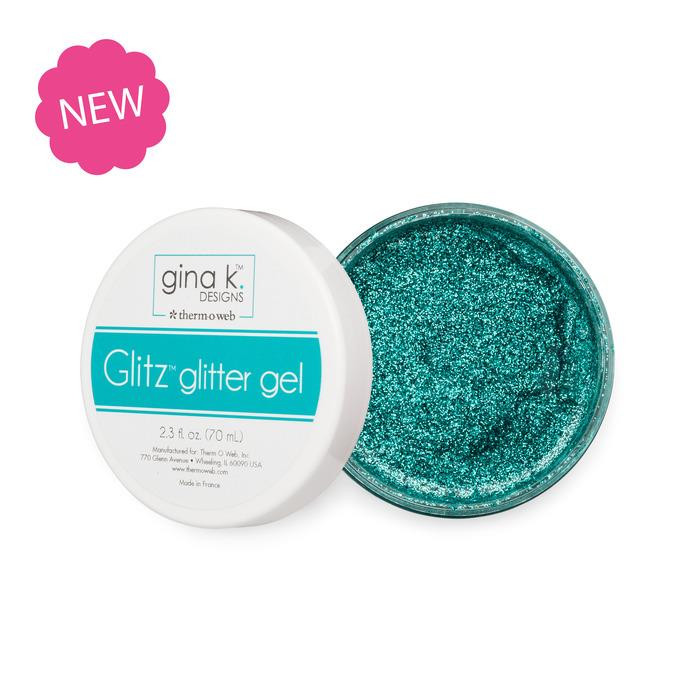Turquoise Sea, Gina K Designs Glitz Glitter Gel - 943181378