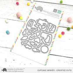 Cupcake Wishes, Mama Elephant Creative Cuts -
