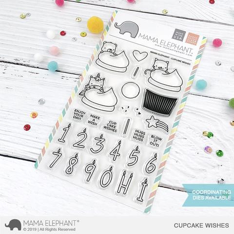 Cupcake Wishes, Mama Elephant Clear Stamps -