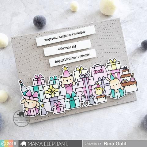 Birthday Messages, Mama Elephant Clear Stamps -