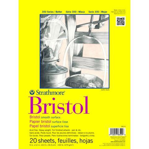 Strathmore Smooth Bristol Pad 9 X 12 - 120173650946