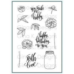You Make Me Happy, Gina K Designs Clear Stamps - 609015543412