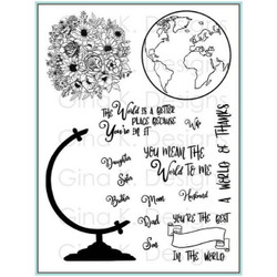 Wonderful World, Gina K Designs Clear Stamps - 609015542323