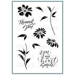 Watercolor Flowers, Gina K Designs Clear Stamps - 609015542293