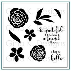 A Happy Hello, Gina K Designs Clear Stamps - 609015545621